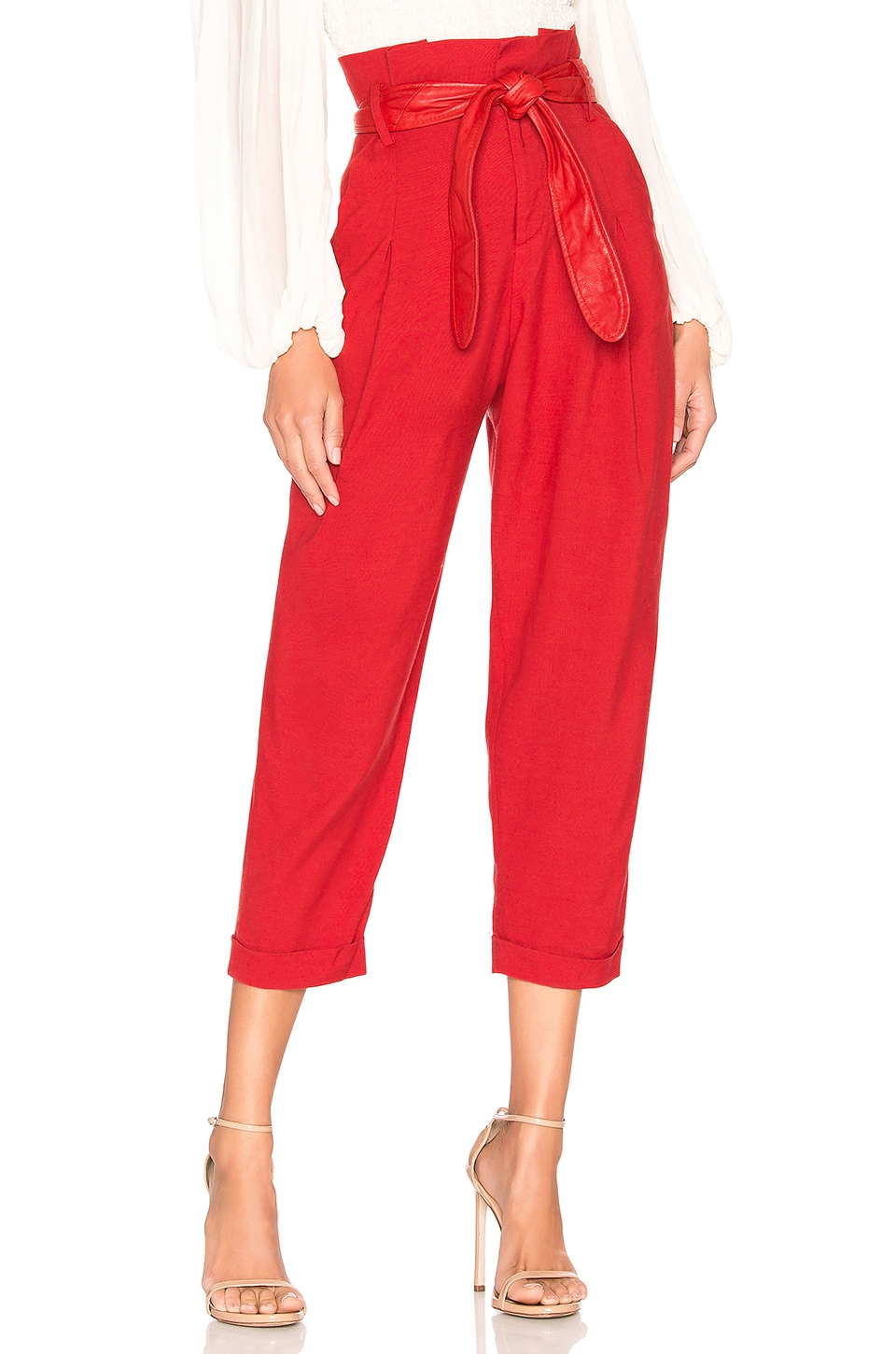Marissa Webb Anders Pant in Cardinal Red