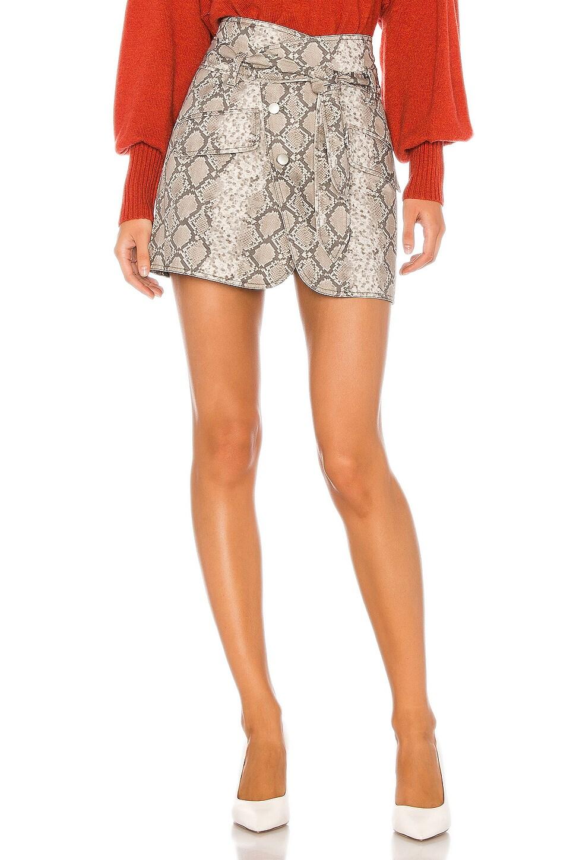 Marissa Webb Katrina Print Canvas Skirt in White Python