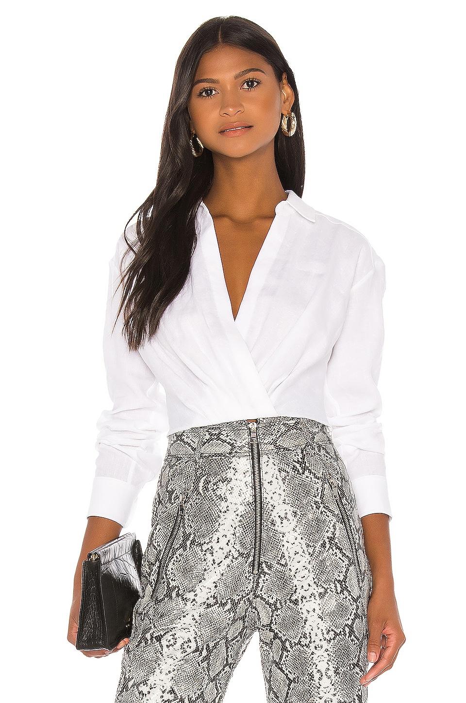 Marissa Webb Maxwell Linen Shirt in Linen White