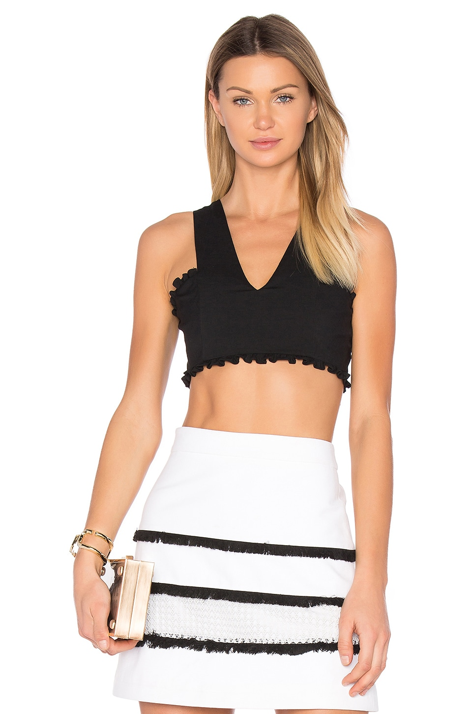 Marissa Webb Minnie Crepe Top in Black