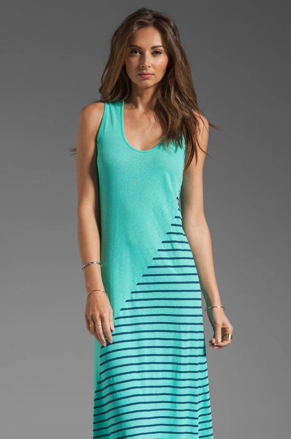 My Line Nico Tank Dress in Aqua