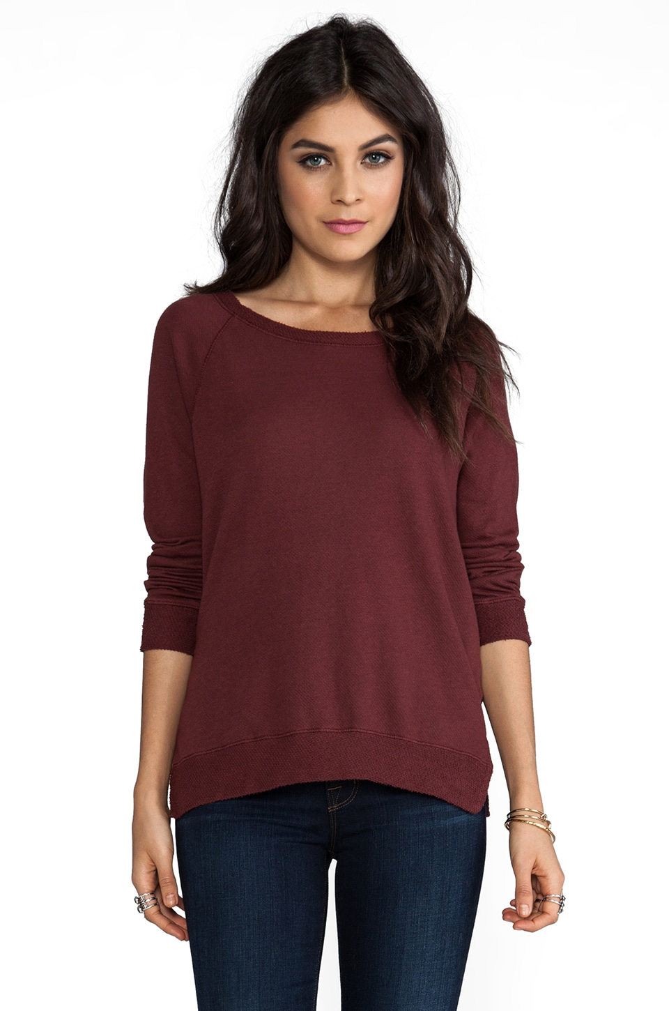 My Line Penny Dolman Sweater in Oxblood
