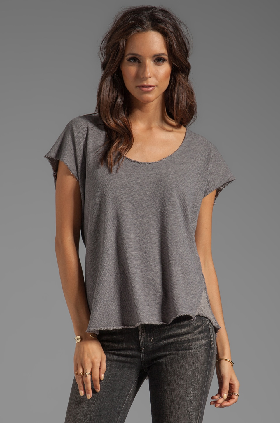 My Line Vivienne Basic Tee in Stone