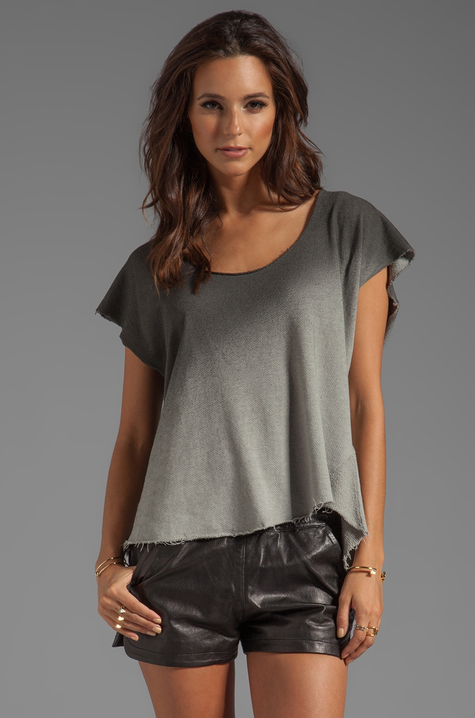 My Line Vivienne Ombre Tee in Black Spray