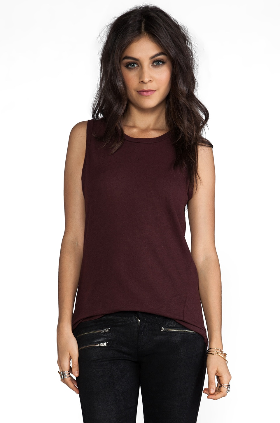 My Line Pria Muscle Tank in Oxblood