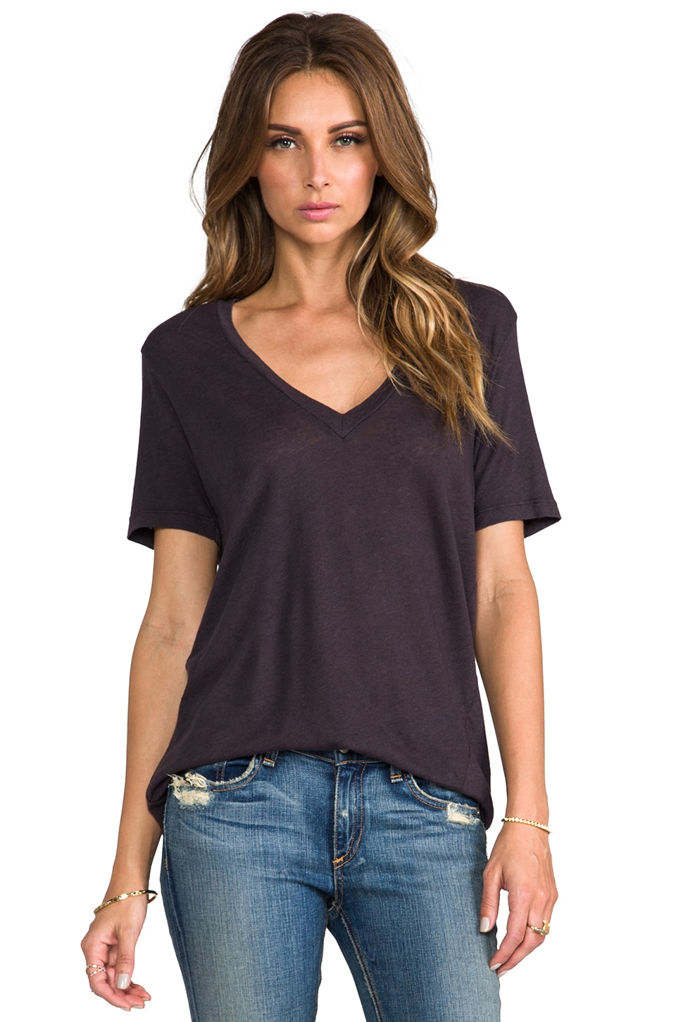 My Line Jezebel V Neck in Bat