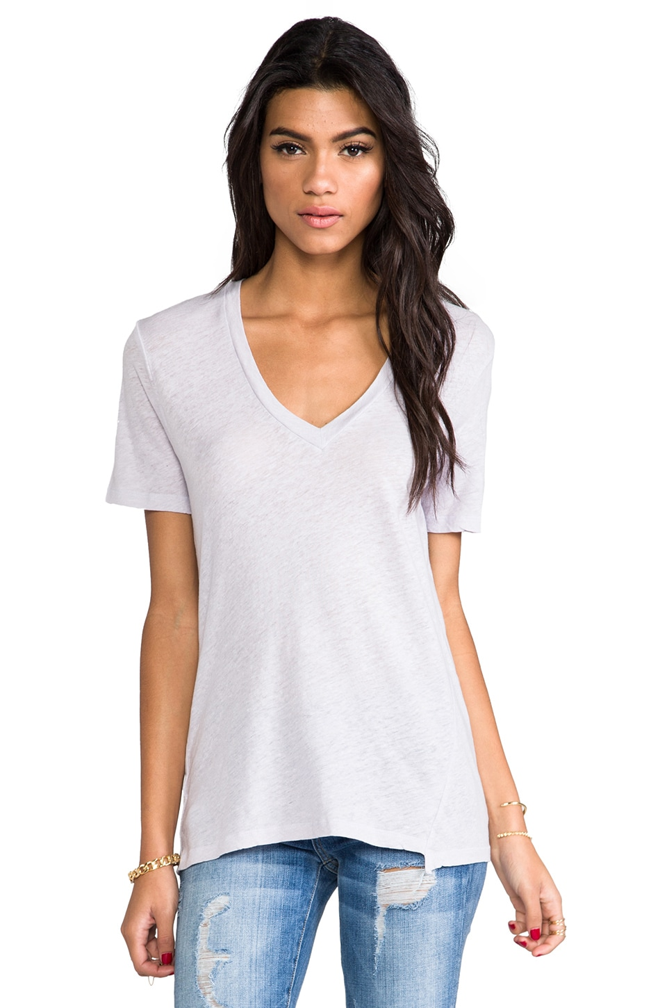 MY LINE Jezebel V Neck in Ash