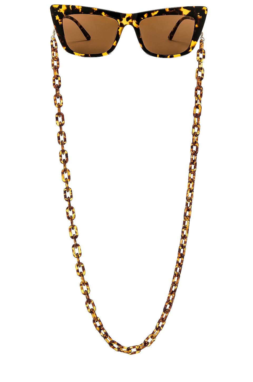 my my my Avery Sunglass Chain in Brown