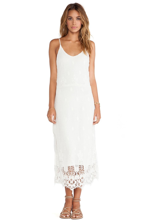 Myne Meteor Crochet Maxi Dress in White