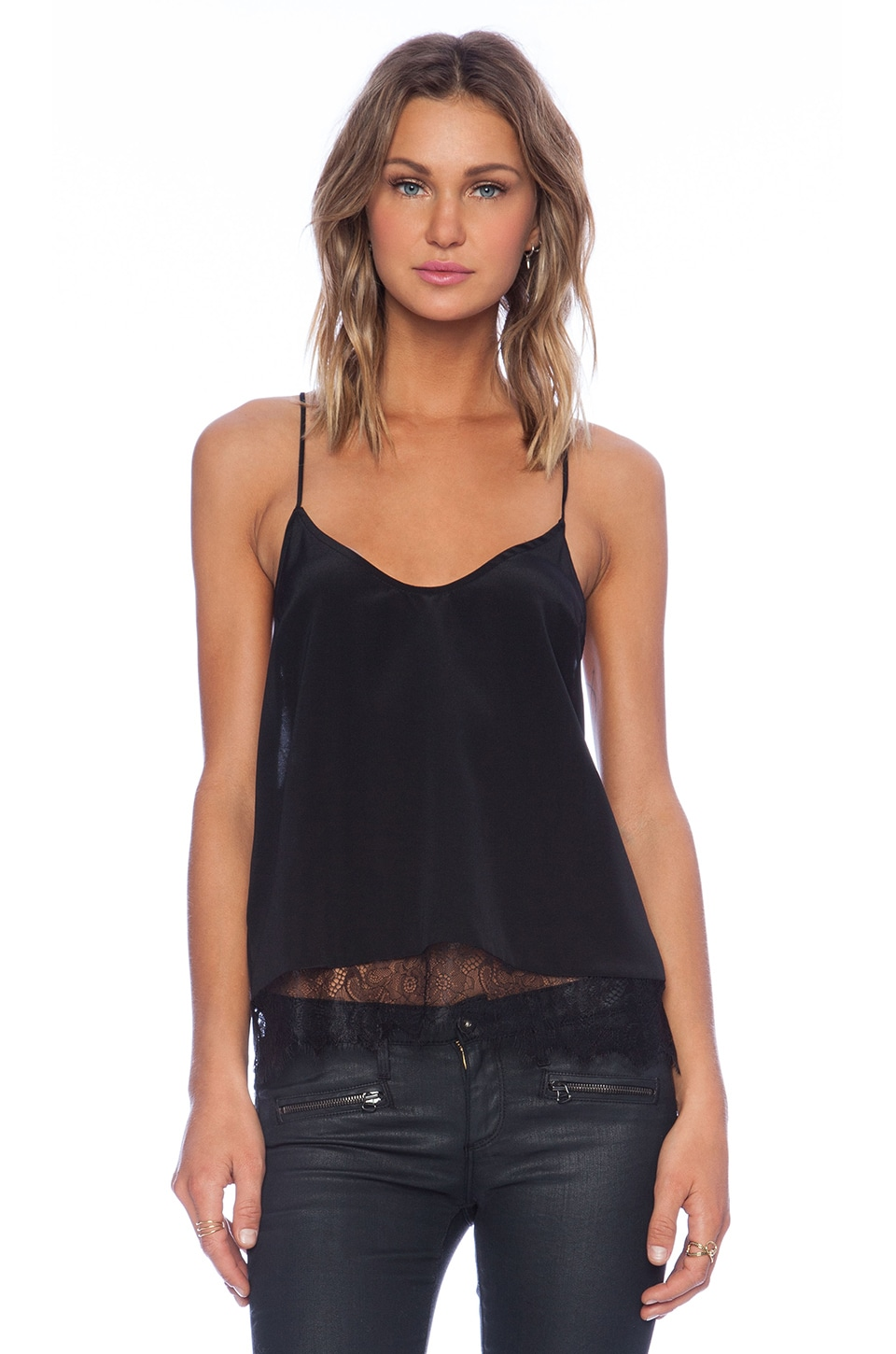 Myne Coal Tank Top in Black