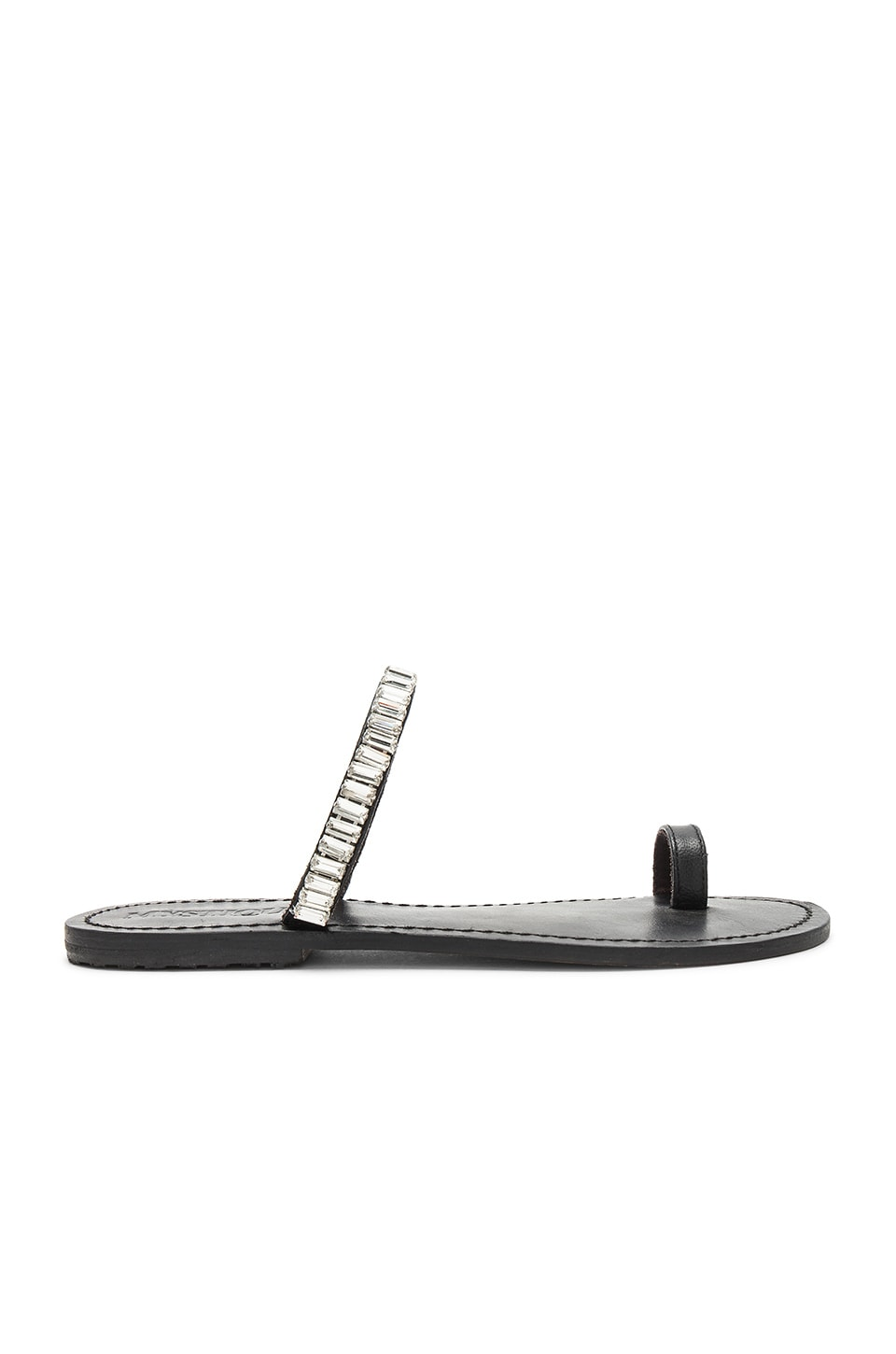 Mystique Embellished Slide in Black