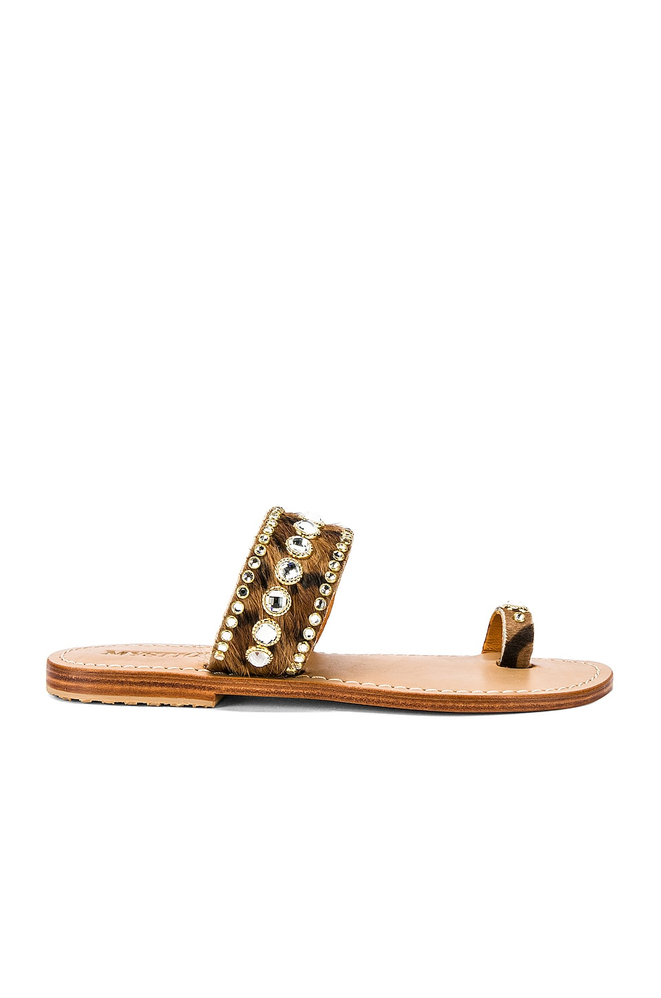 Mystique Leopard Sandal in Brown