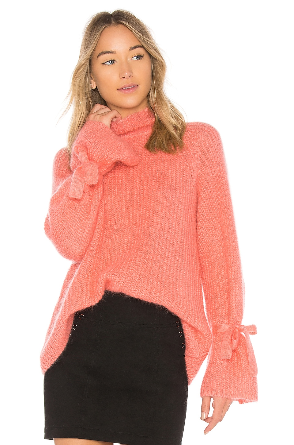 Oversized Orange Turtleneck Sweater