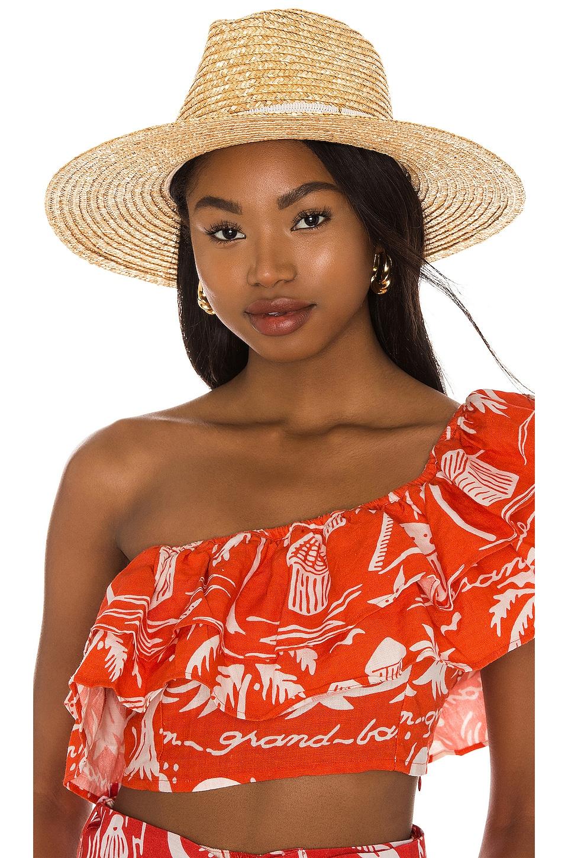 Nikki Beach Alessia Hat in Natural & White