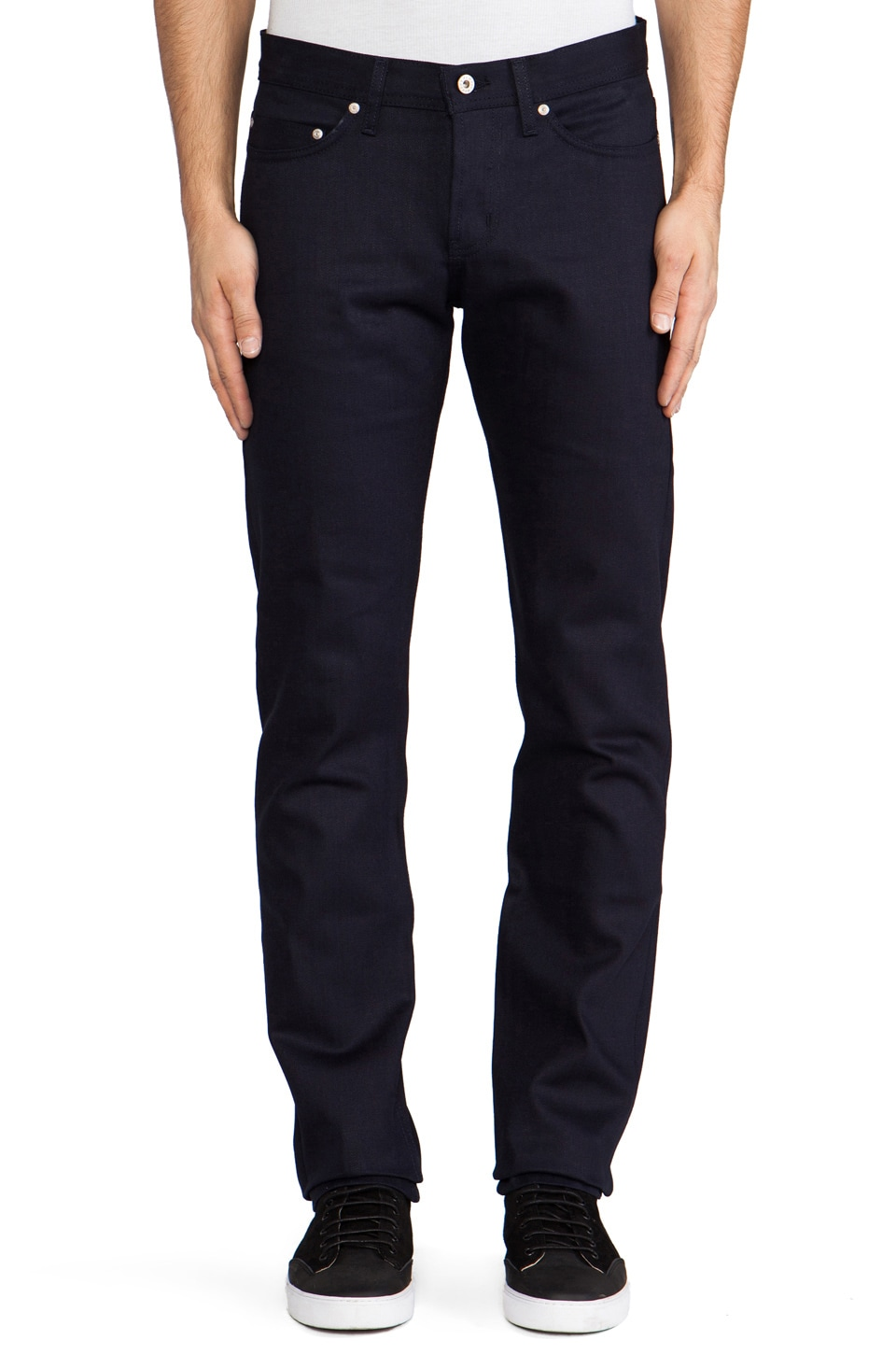 Naked & Famous Denim Weird Guy Midnight Selvedge 13 oz. in Indigo/Black