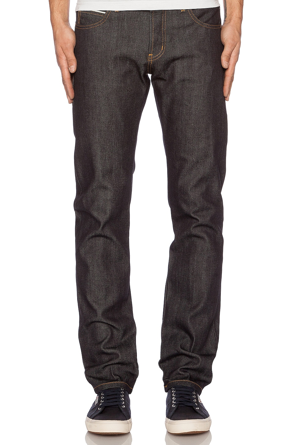 Naked & Famous Denim Super Skinny Guy in Left Hand Twill Selvedge 13.75 oz in Indigo