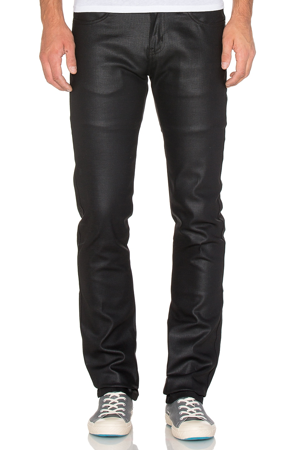 Photo of Skinny Guy Wax Coated Black Stretch 11 oz. by Naked & Famous Denim men clothes