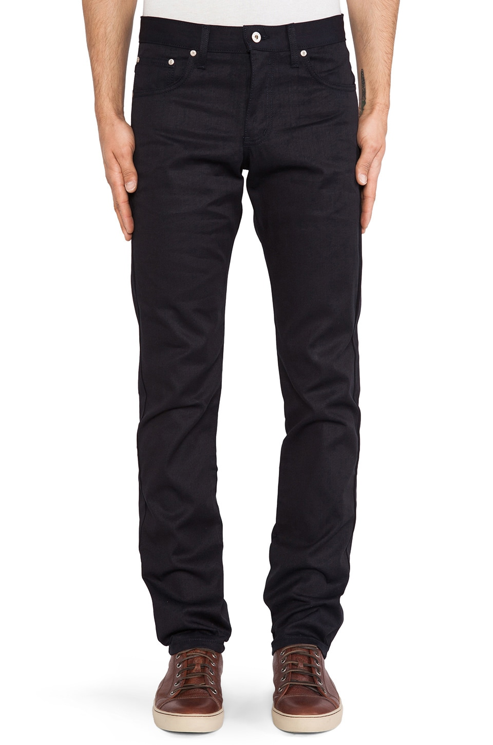 Naked & Famous Denim Skinny Guy Lightweight Indigo/Indigo 8 oz. in Indigo