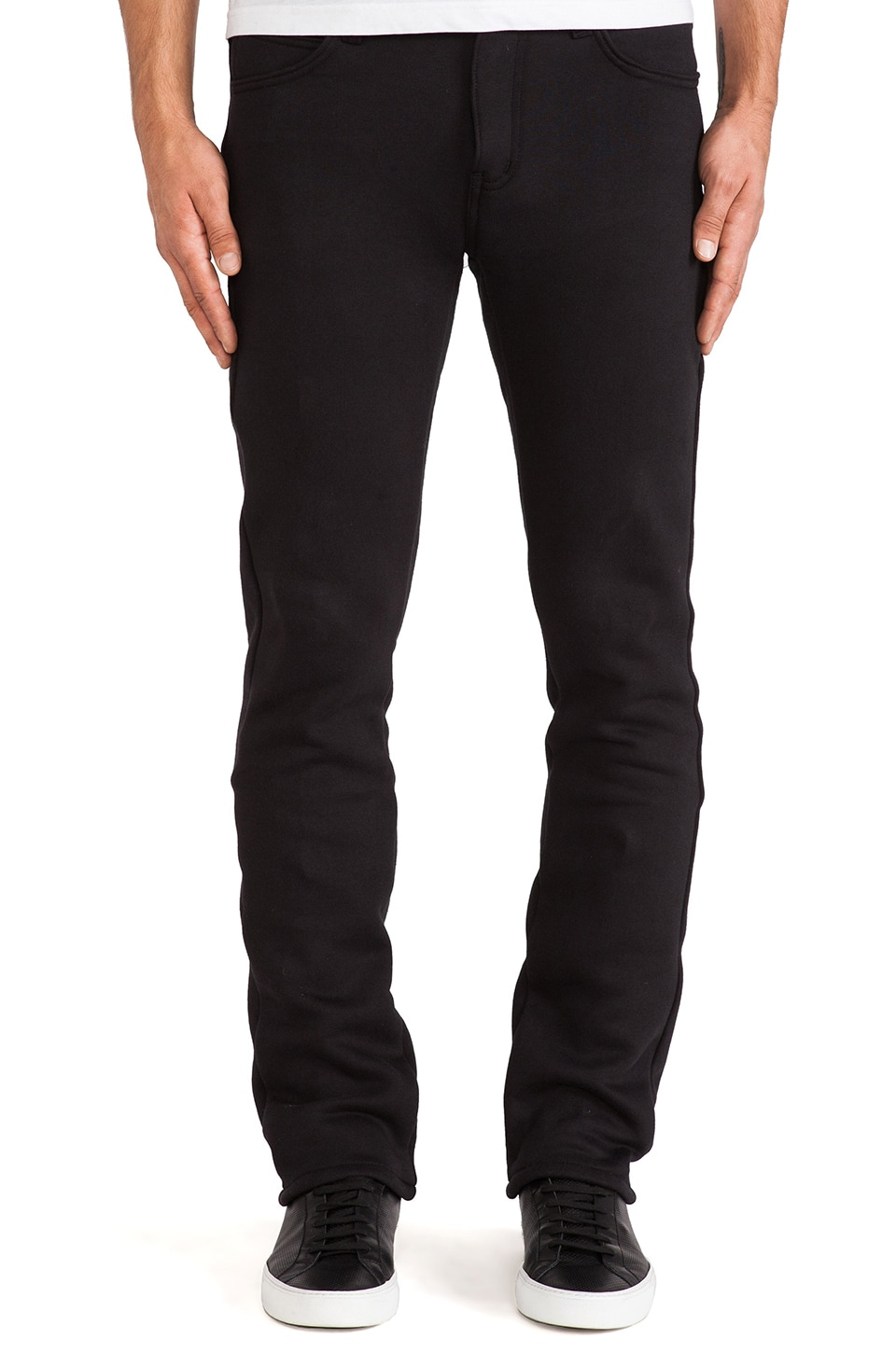 Naked & Famous Denim Sweat Jean 11oz Knit Fleece in Black