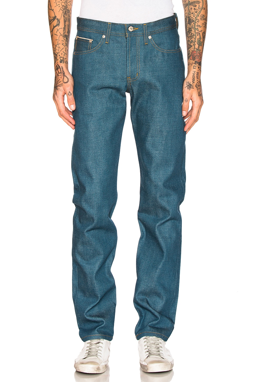 Weird Guy Cerulean Blue Selvedge 15oz by Naked & Famous Denim
