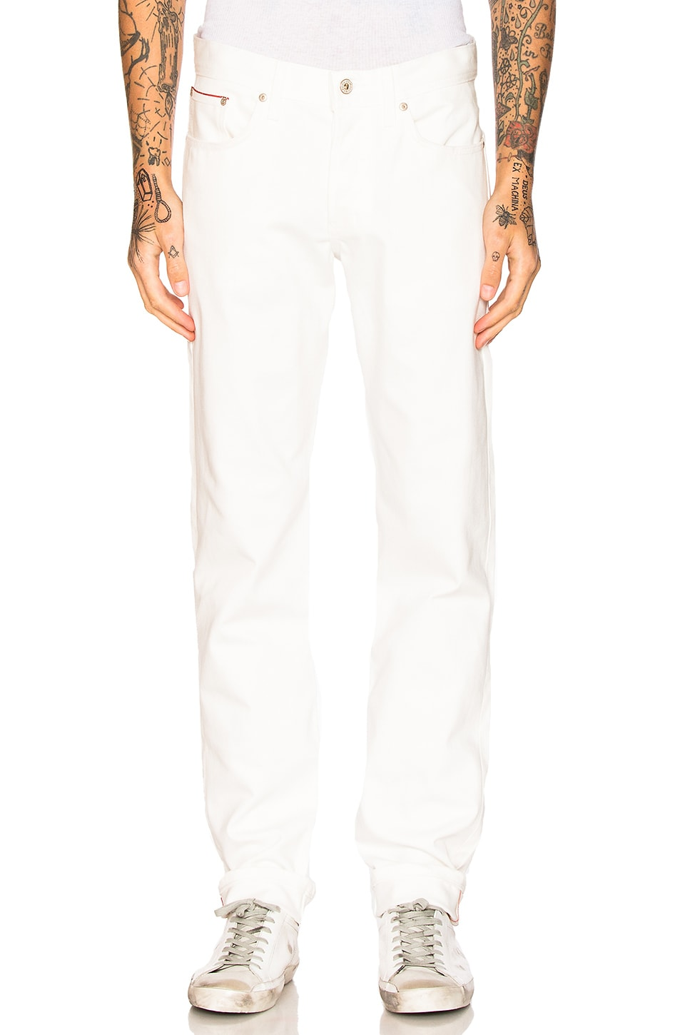 Weird Guy White Stretch Selvedge 11oz by Naked & Famous Denim