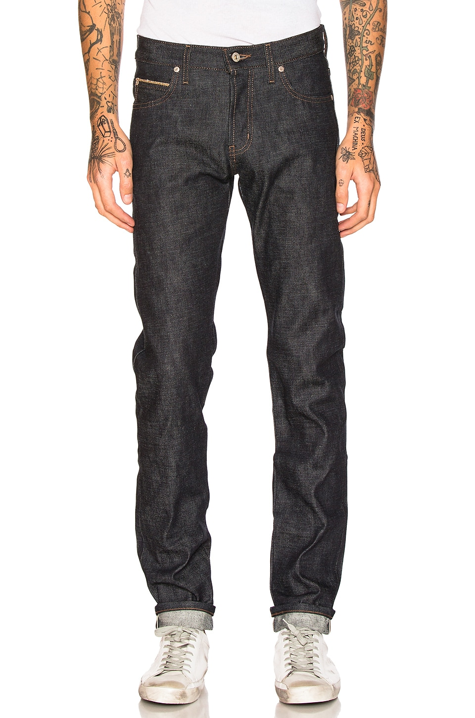 Super Skinny Guy Chinese New Year Fire Rooster 12.5oz by Naked & Famous Denim