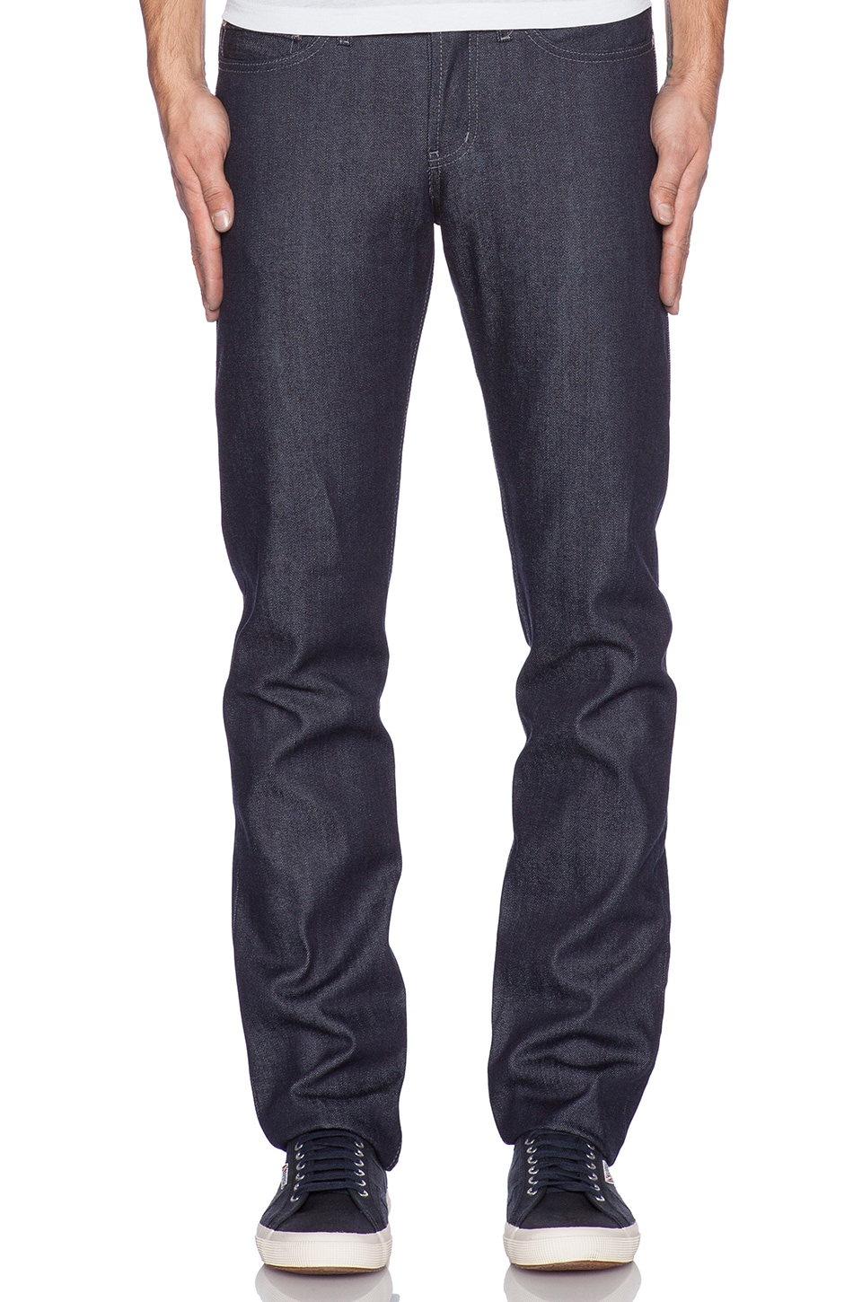 Naked & Famous Denim Weird Guy Core Selvedge 14oz. in Indigo to Red