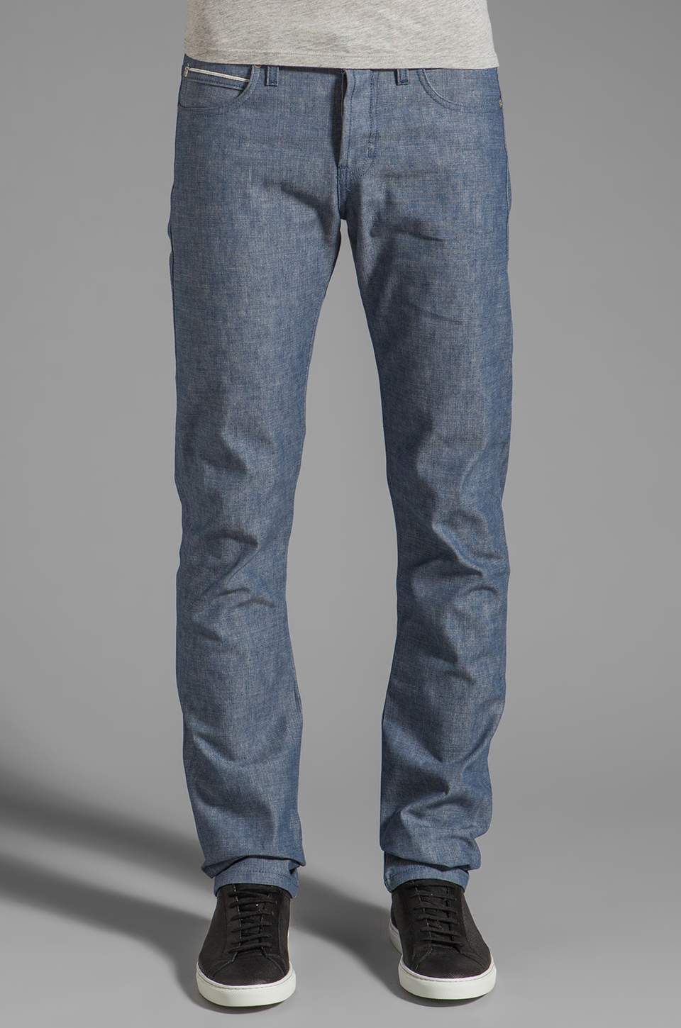 Naked & Famous Denim Skinny Guy 8 oz Selvedge Chambray