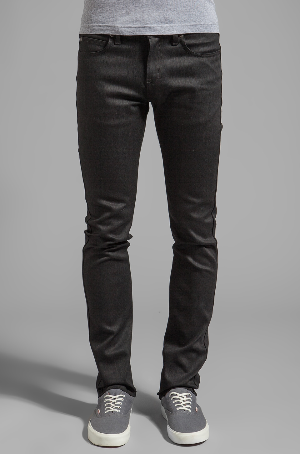 Naked & Famous Denim Super Skinny Guy Black Power Stretch 12 oz. in Black