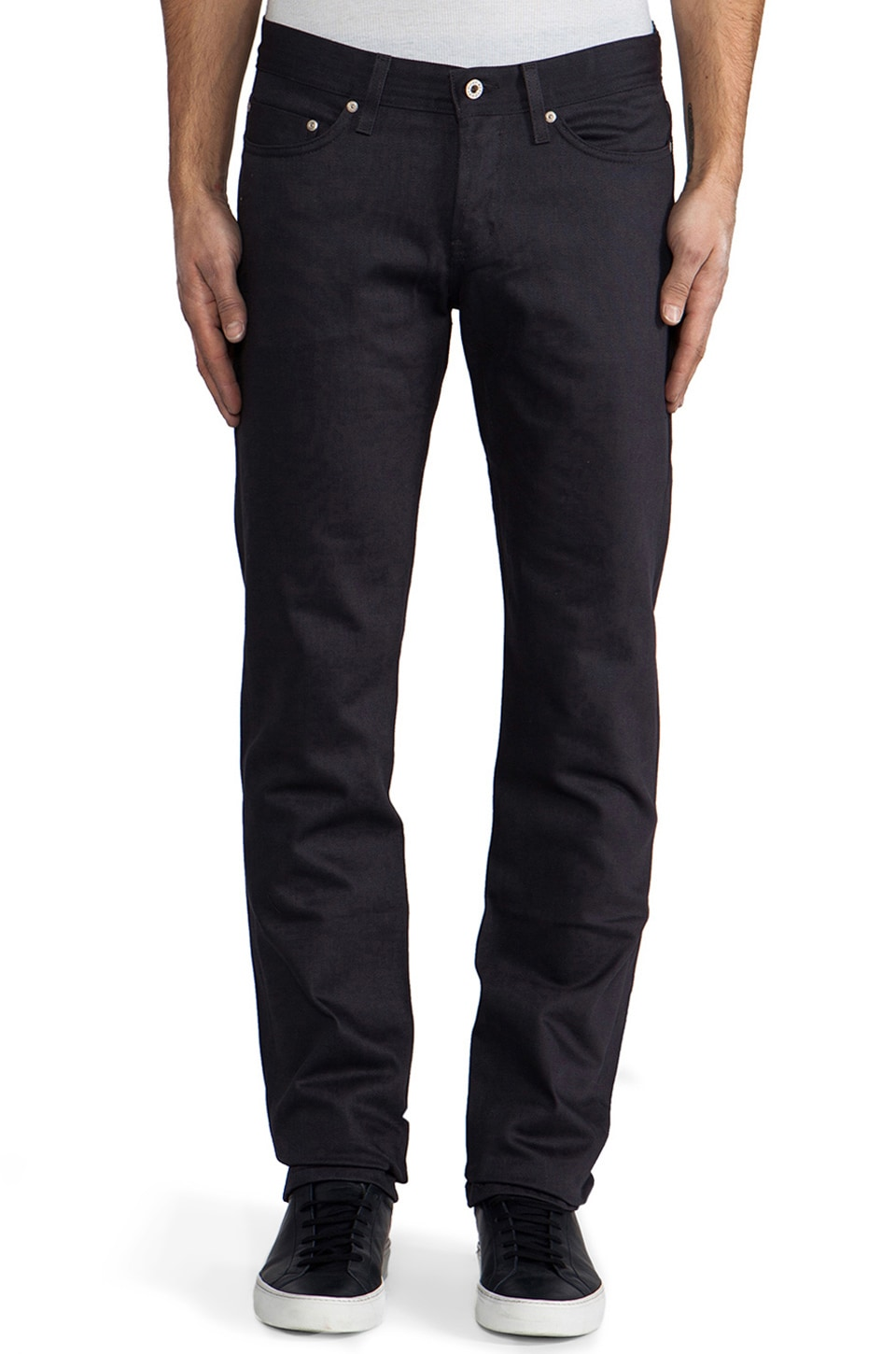 Naked & Famous Denim Weird Guy Navy Selvedge Chino 12 oz. in Navy