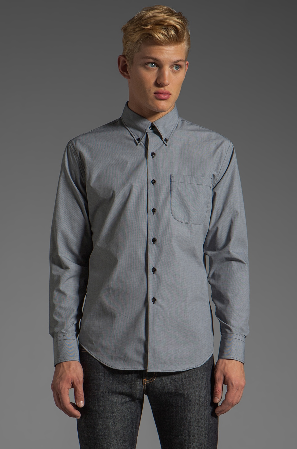 Naked & Famous Denim Regular Shirt 5 oz in Mini Check