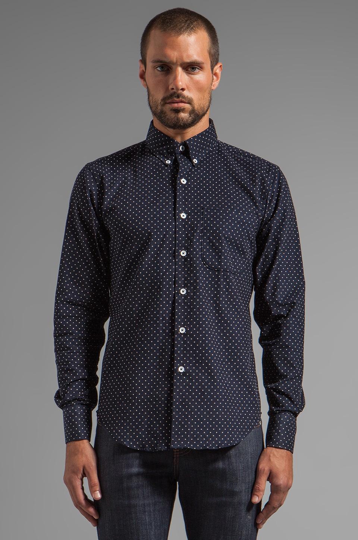 Naked & Famous Denim Regular Shirt Indigo Cord w/ White Dots in Indigo