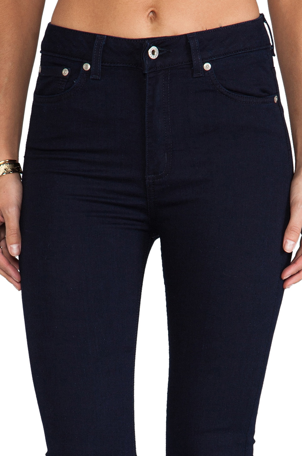 Naked & Famous Denim The High Lightweight Skinny in Indigo