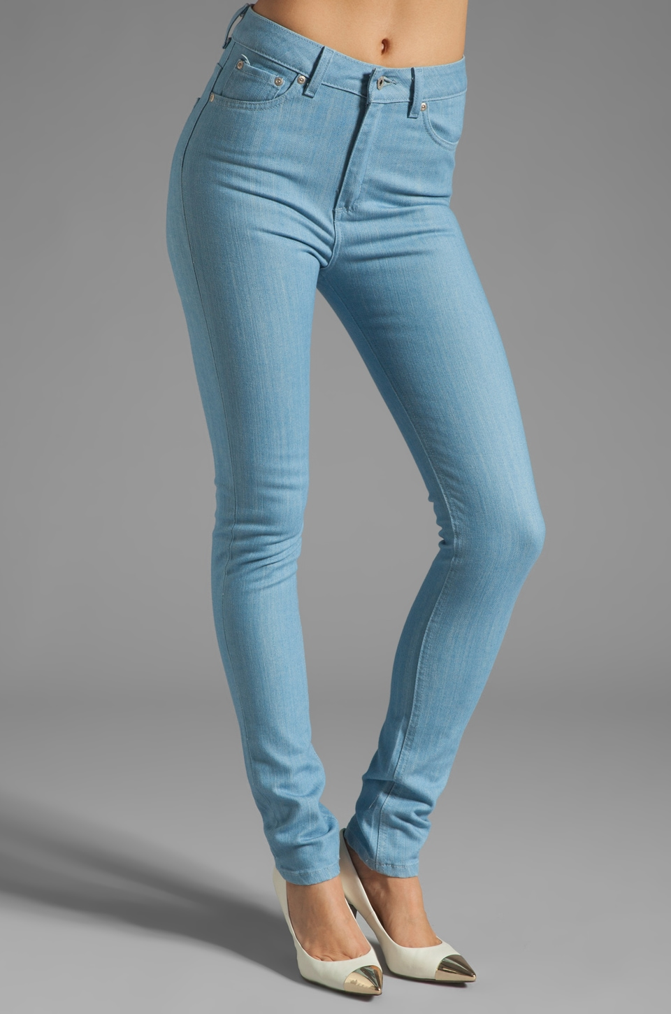 Naked & Famous Denim The High Skinny 11 oz in Light Blue Stretch