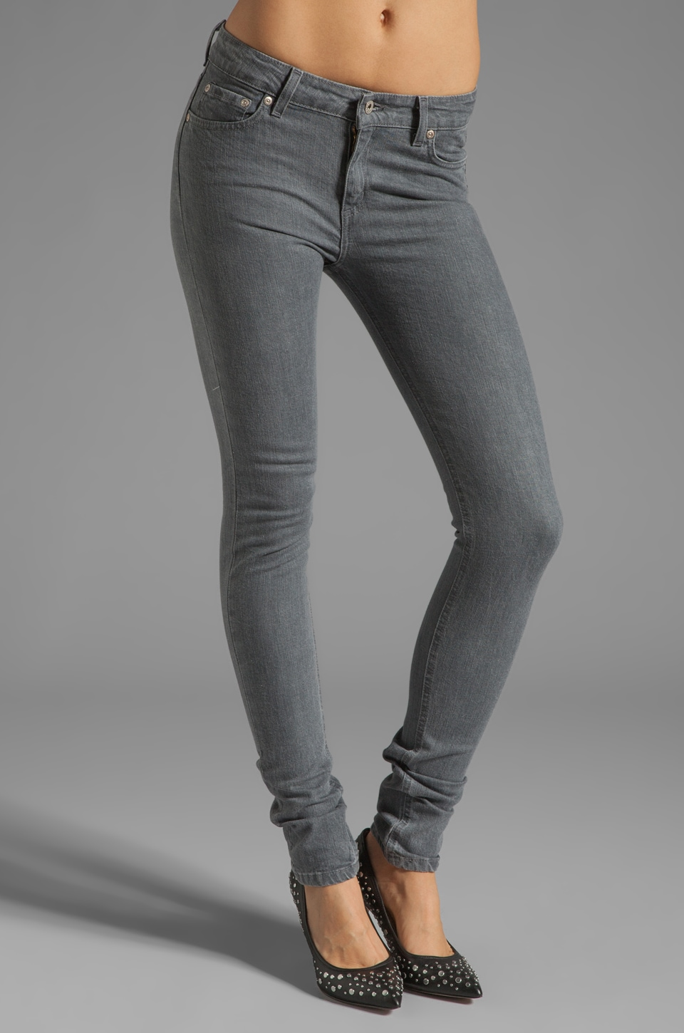 Naked & Famous Denim The Skinny 11 oz in Grey Stretch