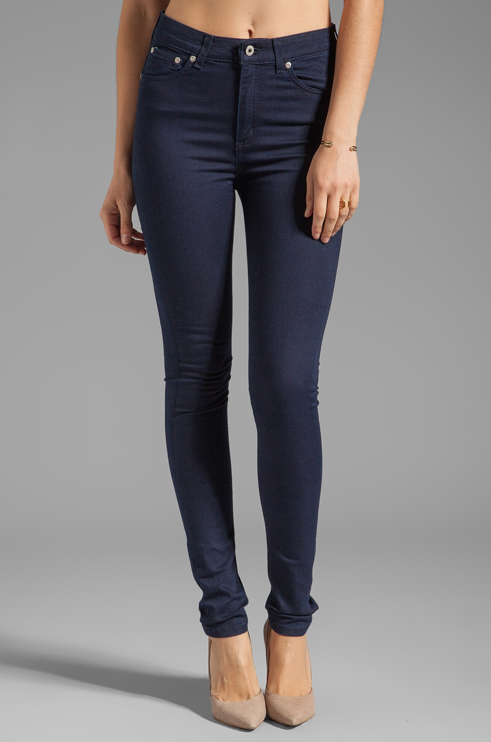Naked & Famous Denim The Skinny in Ultra Soft Stretch Dark Indigo