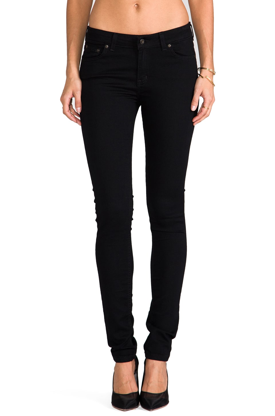 Naked & Famous Denim The Skinny in Lightweight Black Super Stretch