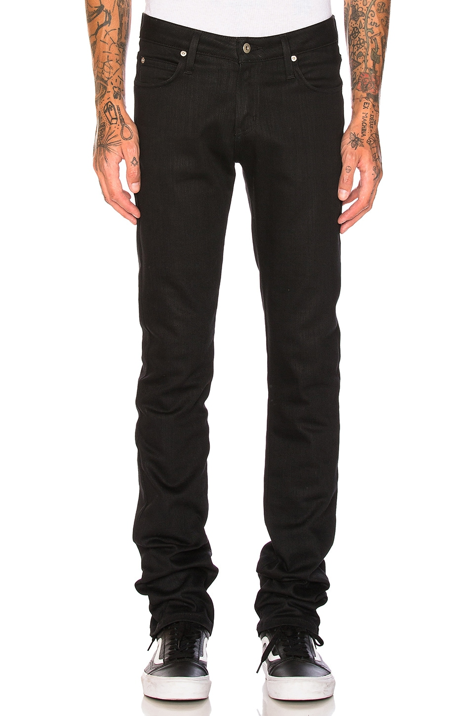 Naked & Famous Denim Skinny Guy Black Power Stretch in Black