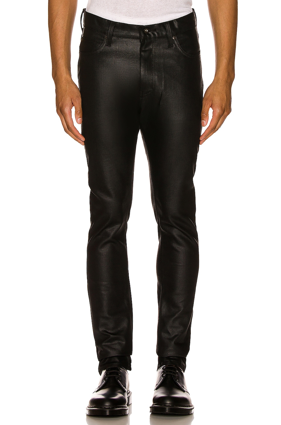 Naked And Famous Naked & Famous Denim Stacked Guy 12oz Black Waxed Stretch In Black