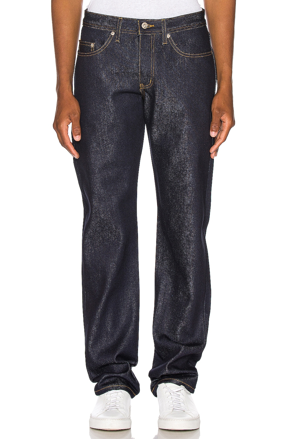 Naked & Famous Denim Weird Guy Jeans in Elephant 8 Supima Soft Selvedge