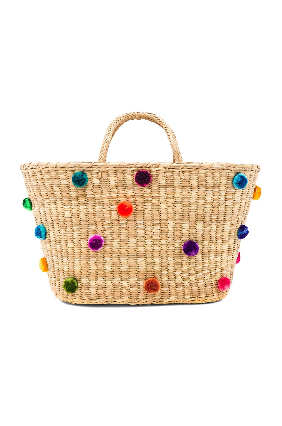 Nannacay Joana Multi Pompom Tote in Off White