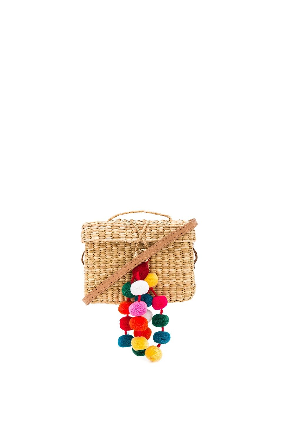Nannacay Baby Roge Multi Pompom Bag in Off White