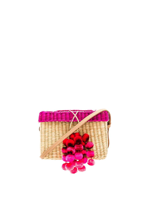 Nannacay Roge Medium Pompom Bag in Pink