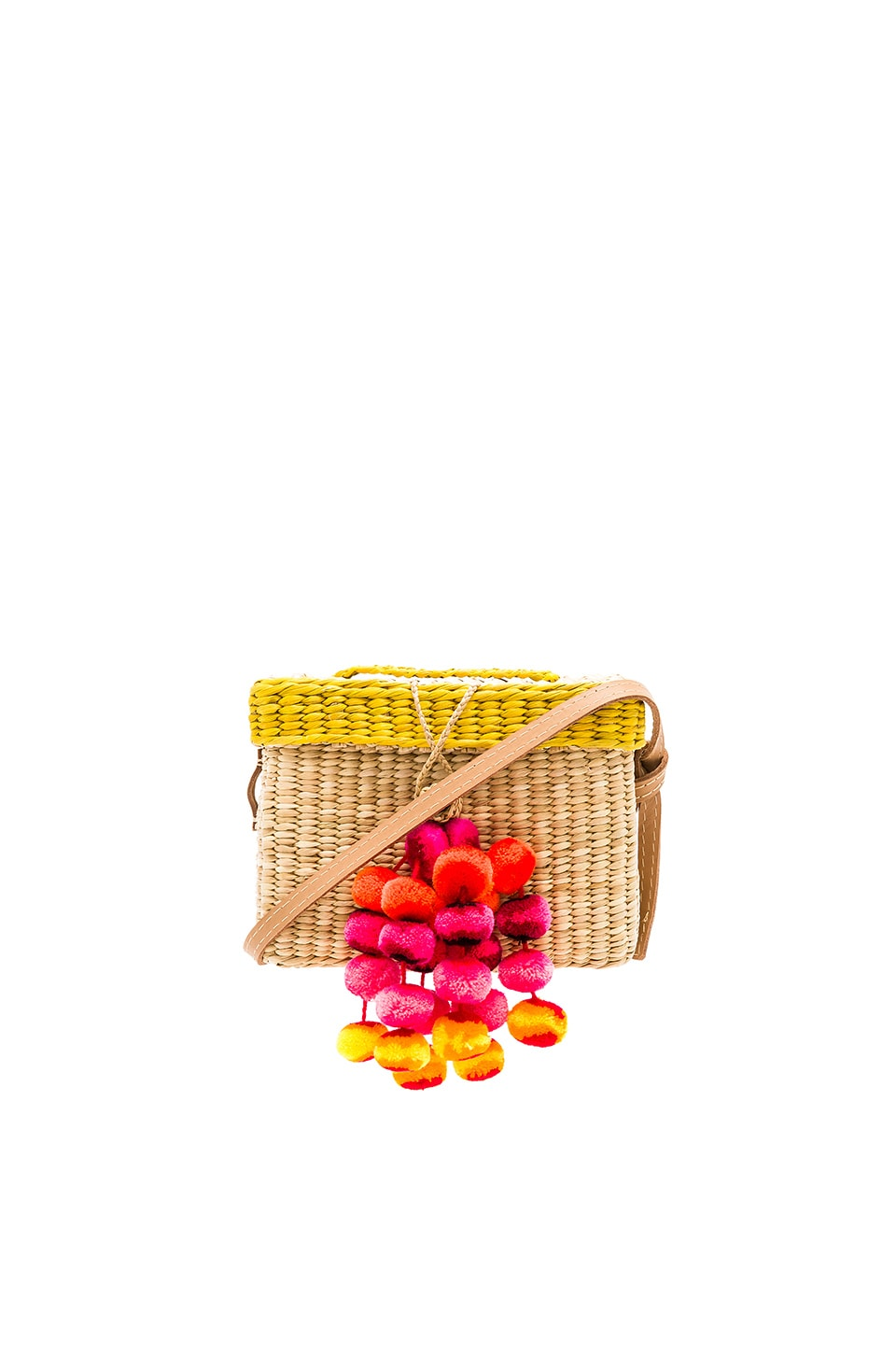 Nannacay Roge Small Pompom Bag in Yellow