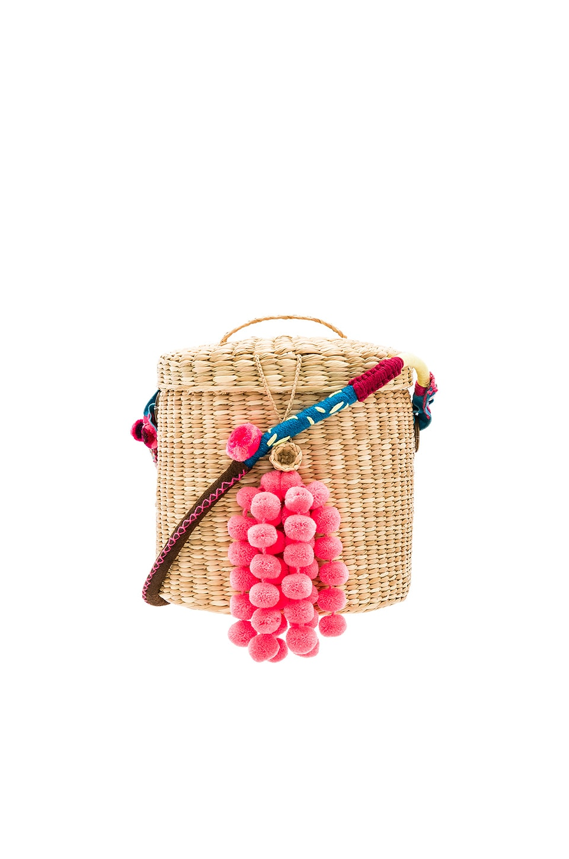 The Ana Bucket Mini Pom Bag