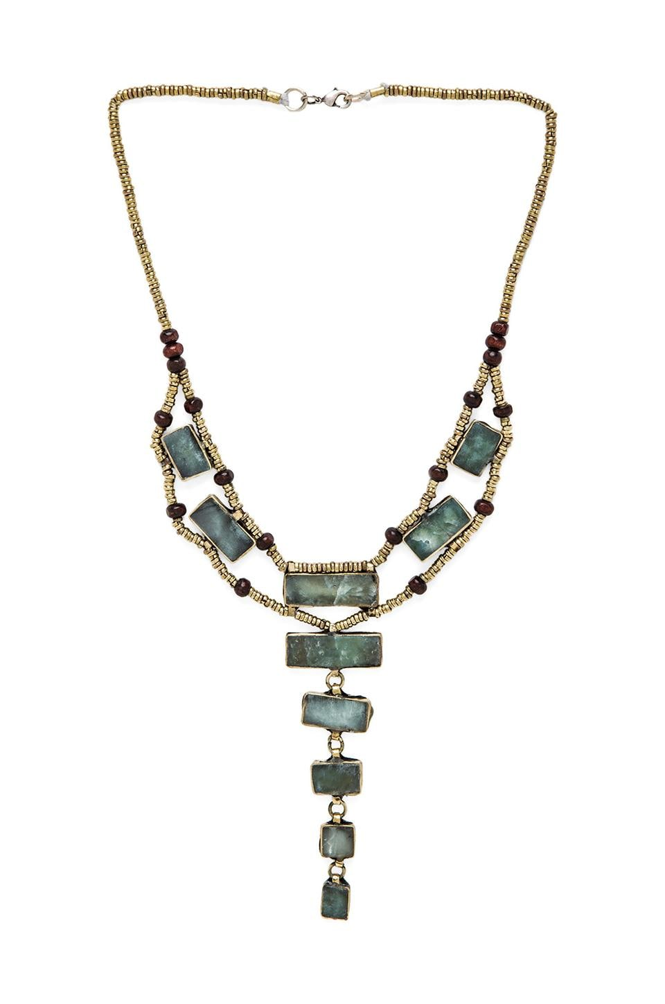 Natalie B Jewelry The Ladder Necklace in Moss