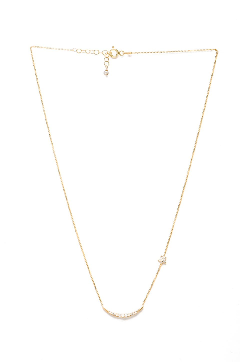 Natalie B Jewelry Natalie B Ottoman Moon and Star Necklace in Gold