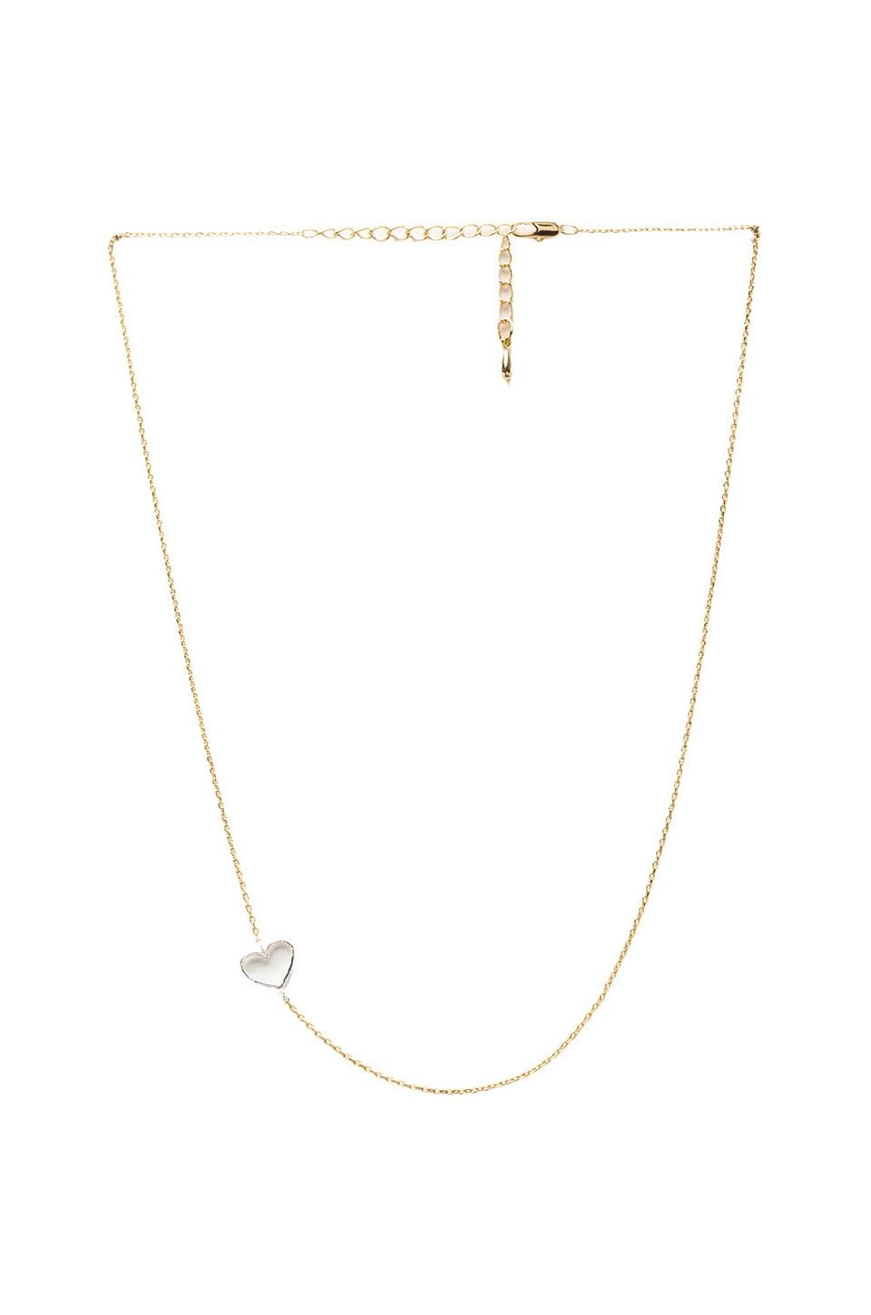 Natalie B Jewelry Natalie B Luv Me Tender Necklace in Gold/Silver