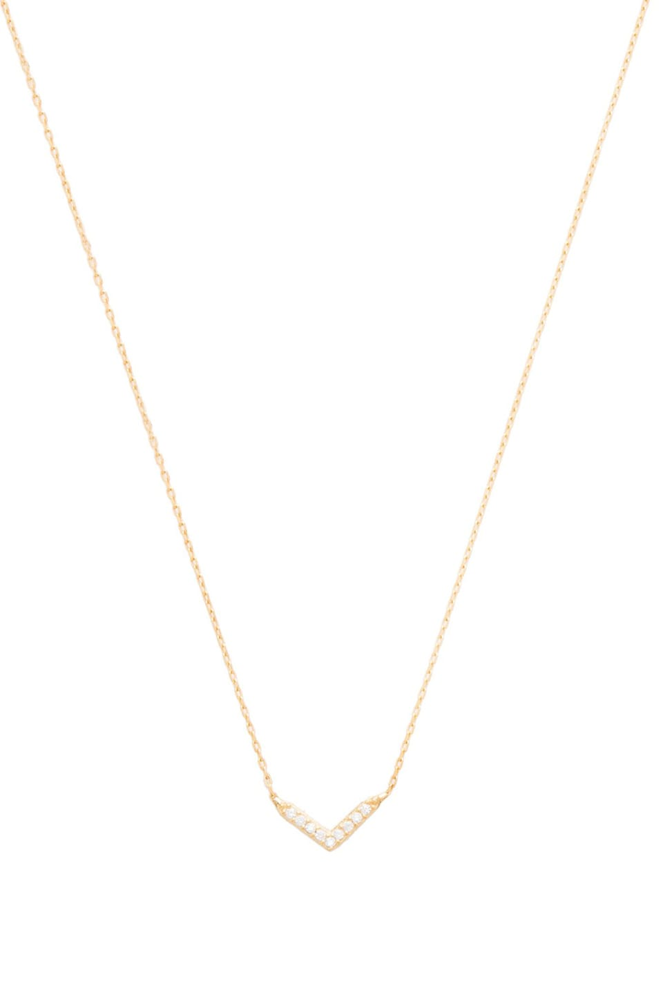 Natalie B Jewelry Baby V Necklace in Gold