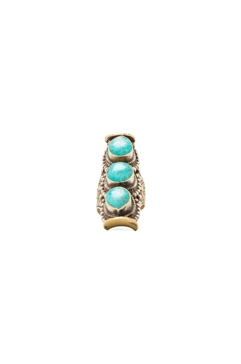 Natalie B Jewelry Natalie B 3 Stone Ring in Turquoise